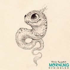 Wormy Dragon.  #morningscribbles