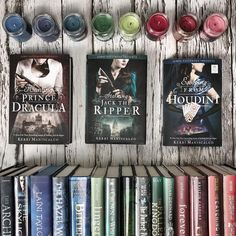 Look at Kerri Maniscalco 's books toge. Look at Kerri Maniscalco 's books together! Gah they are all so perfect. I can't wait to dive into Have you read… Ya Books, Books To Buy, I Love Books, Good Books, Books To Read, Amazing Books, Fantasy Magic, Fantasy Books, Book Suggestions