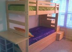 twin size bunk bed with desk trundle storage steps bunk bed desk trundle