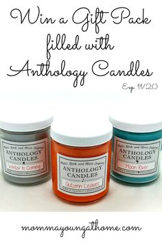 Ever have a scent remind you of something amazing? That is what the folks did at Anthology Candles but with books, movies and songs. I'm Giving away a whole box.