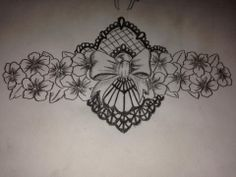 Lacework with cherry blossom