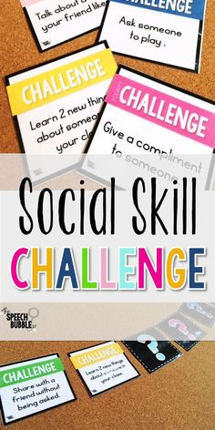I want social skill activities for my kids to mean something. Sometimes these lessons turn into more talk and less action. I've tried games but wanted something my kids could take back and do in their classrooms. This challenge is great for children with Autism or small groups working on social skills to apply and actually use what you have been working on! Speech Therapy Activities, Aba Therapy For Autism, Adhd Activities, Life Skills Activities, Therapy Games, Vocational Activities, Therapy Ideas, Language Activities, Occupational Therapy