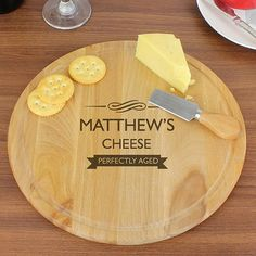 Check this out!! The Kitchen Gift Company have some great deals on Kitchen Gadgets & Gifts Personalised Perfectly Aged Round Cheese Board #kitchengiftco