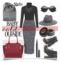 """Shein V/8"" by zenabezimena ❤ liked on Polyvore featuring Bebe, Marc Jacobs, Gucci, polyvoreeditorial, topset, polyvorefashion and shein"