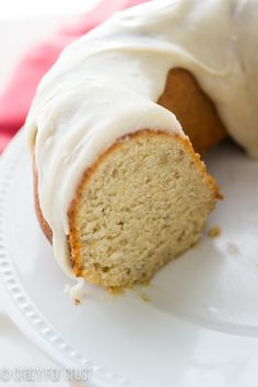 Banana Bundt Cake with Cream Cheese Frosting! The perfect crumb and banana flavor!