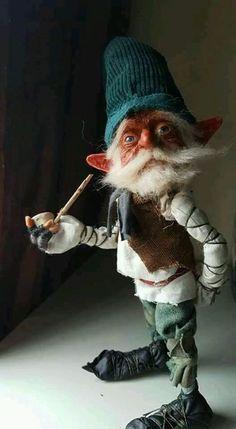 Elves And Fairies, Clay Fairies, Woodland Creatures, Magical Creatures, Kobold, Elf Doll, Beautiful Fairies, Fairy Art, Fairy Dolls