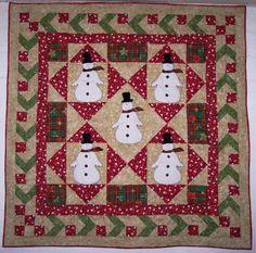 Cute snowman quilt