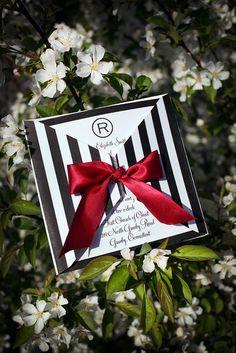 These are beautiful!!    DIY Stripe Printable Wedding Invitation - Brigitte Klotzek-Obringer - The Posh Event by ThePoshEvent, via Flickr