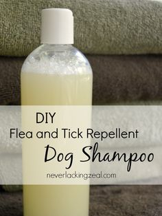 DIY Dog Shampoo Ingredients 1 cup water 1 cup castile soap 15-20 drops of tick repelling essential oils (Melaleuca, Cedarwood, Geranium, Thyme) Instructions Mix ingredients in an old shampoo bottle or recycled jar. Use as needed on your dog to lather well.