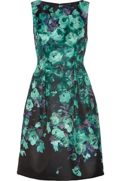 floral-print dress / lela rose