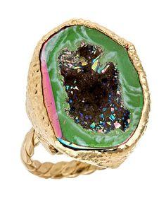 Geode Ring......LOOOOOOOVVVEEE it! Want it, gonna have one!