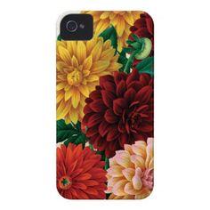 Vintage Dahlias Case-Mate iPhone 4 Case $47.95