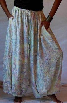 lagenlook | Batik Print Lagenlook Wide Leg Pants thumbnail