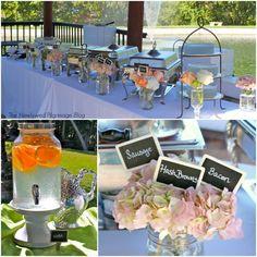 Shabby Chic Bridal Shower with mason jars, sweet tea, chalkboard, burlap, & doilies. Bridal Shower Menu, Chic Bridal Showers, Wedding Shower Favors, Bridal Shower Decorations, Shower Party, Baby Shower, Pre Wedding Party, Wedding Blog, Our Wedding