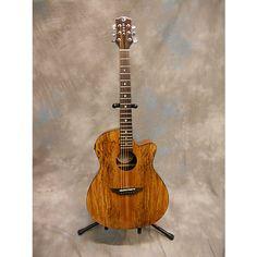 Luna Guitars Gypsy Spalt Acoustic Electric Acoustic Electric Guitar Antique Natural