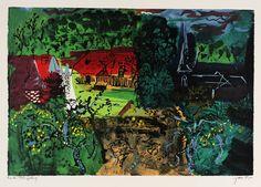 John Piper 'St Germain de l'Ivret', 1983 © The Piper Estate
