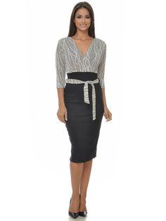 Dámske šaty NATALEE - čierna-šedá