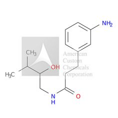 3-(3-AMINOPHENYL)-N-(2-HYDROXY-3-METHYLBUTYL)PROPANAMIDE is now  available at ACC Corporation
