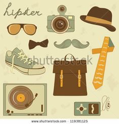 A cool set of hipster related items by olillia, via Shutterstock