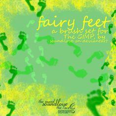 Fairy Footprints Brushes by soundlove.deviantart.com on @deviantART