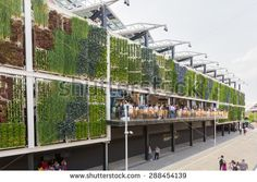 MILAN, ITALY - JUNE 01, 2015: USA pavilion at Expo 2015. The theme of the…
