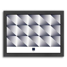 Americanflat Triangles 2 by Armand Framed Graphic Art Size: