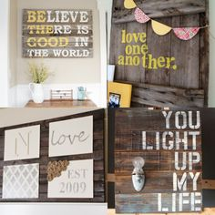 How to Make an Easy Pallet Sign {step-by-step tutorial}. BELIEVE THERE IS GOOD IN THE WORLD...to go with M's room theme