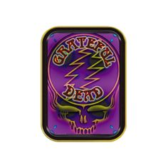 Grateful Dead Purple Skull Large Tin - Originality with a twist! This Grateful Dead Purple Skull Large Tin is the ideal place to store your valuables. The authentic Steel Your Face logo is preserved, while pleasing the senses through lively color contrast.