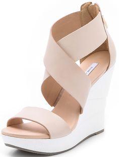 Diane von Furstenberg 'Opal' Wedge Sandals in Pumice