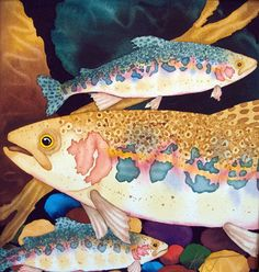OLd Town Trout  Trout Paintings by Kendahl Jan Jubb