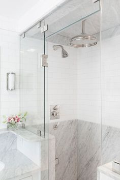 9 Vivacious Clever Hacks: Shower Remodeling Ideas Small shower remodel on a budget diy.Shower Remodeling Ideas Small fiberglass shower remodel home depot.Corner Stand Up Shower Remodel. Shower Remodel, Shower Panels, Shower Tile, Marble Bathroom, Bathroom Styling, White Marble Bathrooms, Bathroom Interior, Bathroom Shower, Bathrooms Remodel