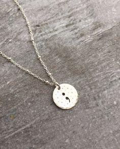 Semicolon Jewelry. Semicolon Necklace. by erinpelicano on Etsy
