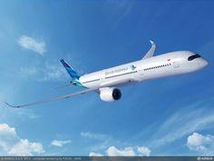 New airbus a350-900 xwb #garudaindonesia #theairlinesofindobesia