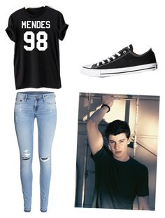 """""""Shawn Mendes"""" by lovebeauty21 ❤ liked on Polyvore featuring H&M and Converse"""