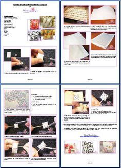 tissue paper decoupaged onto polymer clay pillow beads.  PDF in English.  #Polymer #Clay #Tutorials
