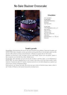 No Bake Blaubeer Cheesecake - No Bake Blueberry Cheesecake | Das Knusperstübchen