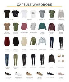 Capsule Wardrobe Casual, Capsule Outfits, Fashion Capsule, Fall Wardrobe, Work Wardrobe, Wardrobe Ideas, Casual Fall Outfits, Mom Outfits, Trendy Outfits