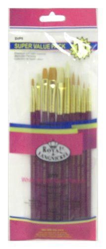 Royal Super Value Pack10 Pieces Asst White BristleGold Taklon >>> Check this awesome product by going to the link at the image.