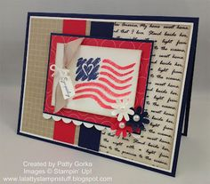 LaLatty Stamp 'N Stuff: Twisted Tuesday Challenge ~ Patriot Day