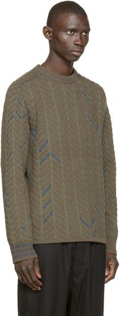 Y-3 Green Dazzle Knit Sweater