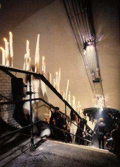 crystallizations: Maison Martin Margiela, Spring 1992 - 1,600 candles illuminated the three main stairwells of the Saint-Martin metro stati...
