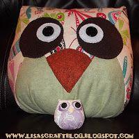 Lisa's Craft Blog: Tutorial: Big Zakka Owl Stuffie