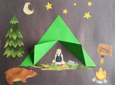 Gone camping craft simply learning, easy crafts for kids, summer crafts, . Camping Crafts For Kids, Daycare Crafts, Easy Crafts For Kids, Summer Crafts, Toddler Crafts, Preschool Crafts, Art For Kids, Summer Art, Preschool Camping Theme