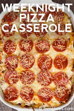Pizza or pasta? Italy food culture Italian cuisine, one of the. Pizza Casserole, Easy Casserole Recipes, Casserole Dishes, Pizza Pasta Bake, Hamburger Casserole, Chicken Casserole, Italian Dishes, Italian Recipes, Sauce Pizza