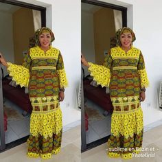 Latest African Fashion Dresses, African Dresses For Women, African Attire, African Women, Africa Dress, African Fabric, Indian Outfits, Fitness Fashion, Madina