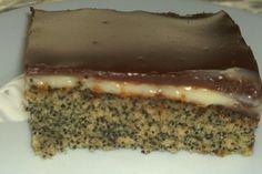 Mohnkuchen mit Vanillecreme und Schoko 1