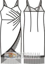 Wrap Dress with Straps