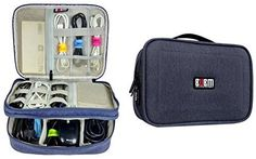 Amazon.com: Electronics Travel Organizer Storage Bag for Accessories Cable Cord iPad mini Blue Large: Computers & Accessories