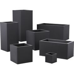 Charcoal planter squares up sleek and modern. Protected for indoor and outdoor settings, matte-finished galvanized steel plays up refined industrial to dramatic effect.<br /><br /><NEWTAG/><ul><li>Powdercoated galvanized steel</li><li>Drainage holes</li><li>Wipe with a soft dry or slightly damp cloth</li><li>Plastic liner recommended for indoor use</li><li>Made in Vietnam</li></ul><br />