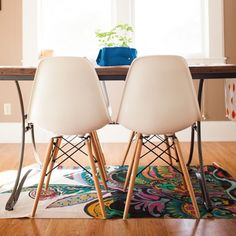 White Eames style Chair set - Charles Eames Replica Designer Chairs